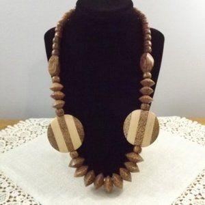 Jewelry - Mango Wood Beaded Necklace